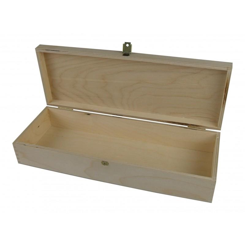 Holzkassette mit Klappdeckel