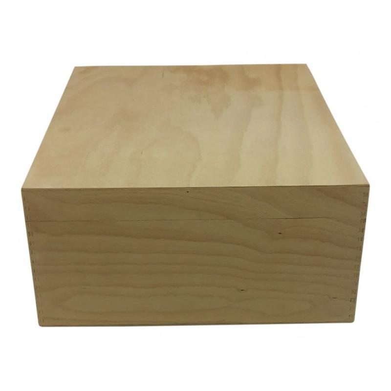 Holzbox, Holzkiste, Geschenkverpackung geschlossen