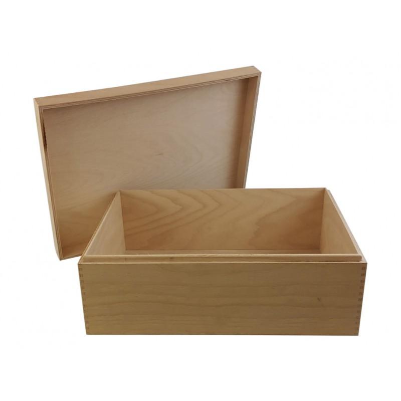 Holzbox, Holzkiste, Geschenkverpackung offen