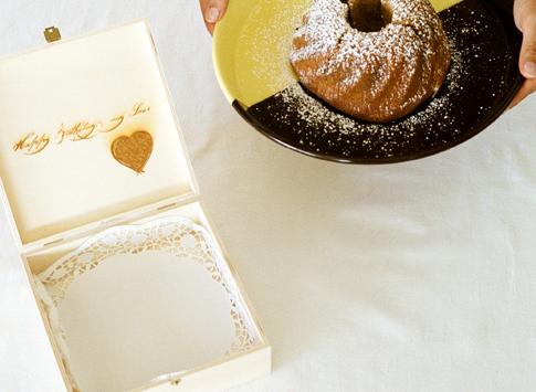 Box mit Kuchen
